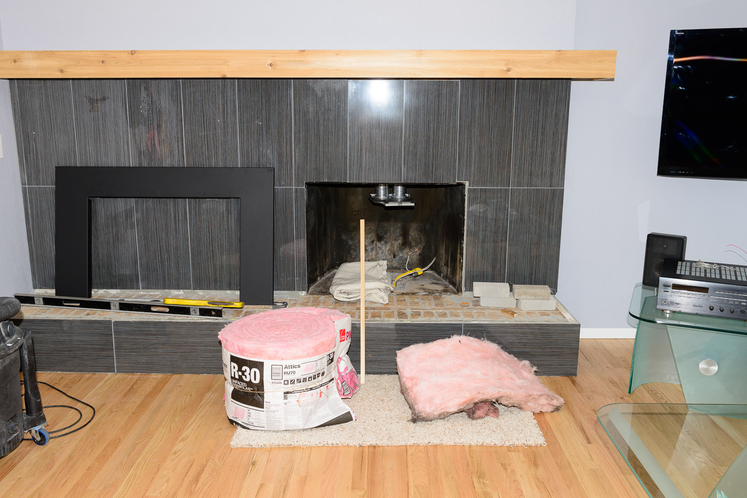 gas fireplace insert project